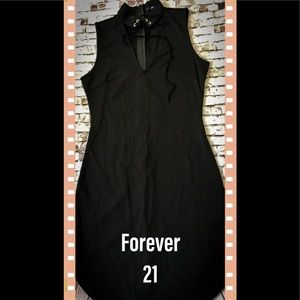 NWT Forever 21 black knit bodycon dress size S